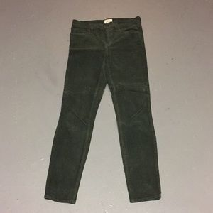 J.CREW LOOKOUT HIGH-RISE IN CORDUROY FOREST GREEN